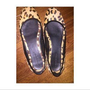 Leopard Print Calf Hair Flats